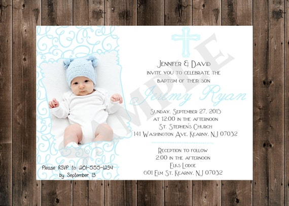 printable digital baptism invitation boy etsy