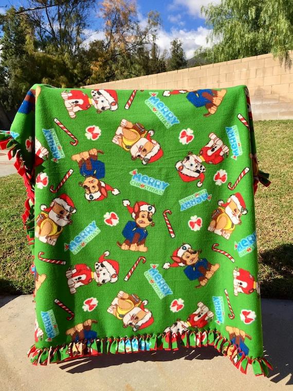 Paw Patrol Christmas.Paw Patrol Christmas Fleece Blanket