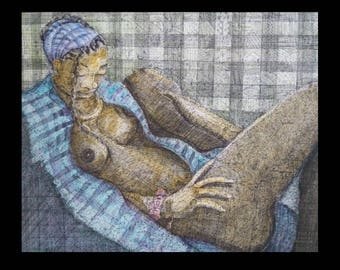 Natural Woman 1 /Original African Art / African Painting / Art / Painting