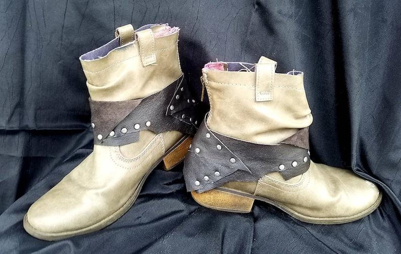 Boho Ankle Cuff~Anklets~Biker cuffs~Boho hippy gypsy~Boho biker~Boot belts~Jett