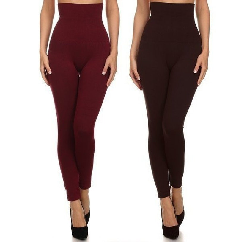 15d189ffb8 High waist compression leggings firm compression waistband | Etsy