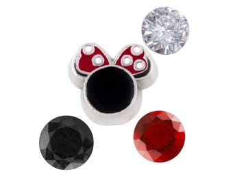 Minnie Mouse Inspired Floating Charm