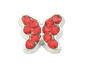 July Butterfly Birthstone Floating Charm