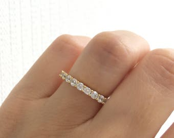 Gold Wedding Band Ring. Eternity Band Ring. Gold Stacking Ring. Stackable Ring. Thick Band Ring. Gold Eternity Band Packed In A Luxury Box.