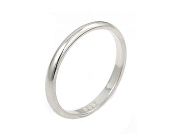 Simple band ring. Sterling silver 2mm band ring. Stackable ring. Stacking  rings. Silver band ring. 8d2f10803