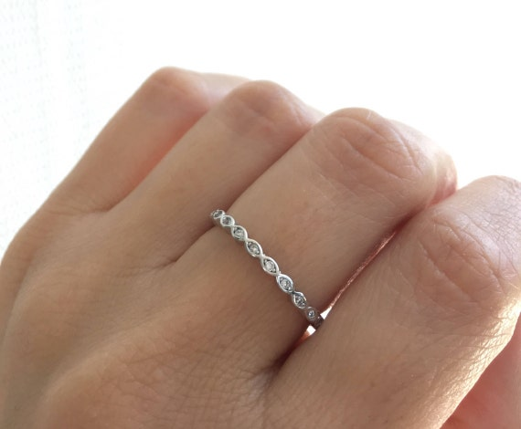 Eternity Band Ring High Quality Cz Stackable Ring Wedding Band Ring Sterling Silver Rhodium Plated Stacking Ring Wedding Ring.