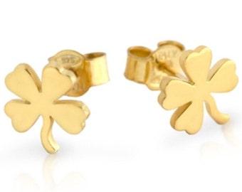 Clover earrings. Four leaf clover earrings. Sterling silver clover earrings. Gold clover earrings. Rose gold clover earrings. Silver jeweley