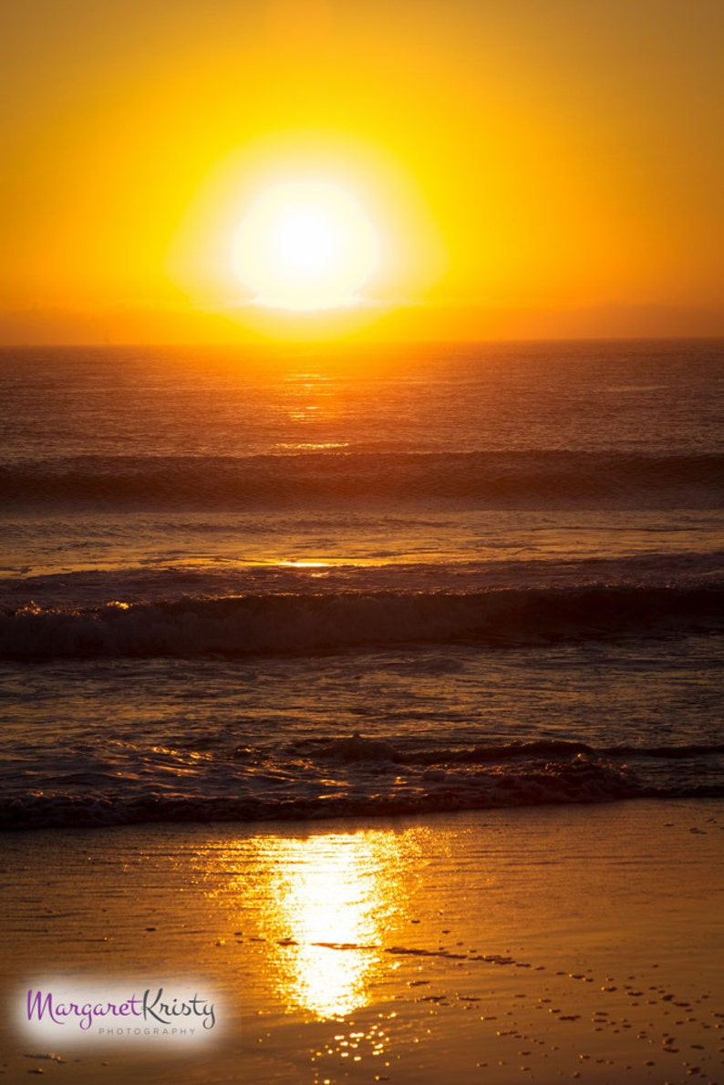 California Beach Sunset  beach waves coast photograph image 0