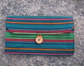 Wallet PERUVIAN fabric Handmade
