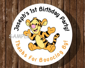 25 Disney Playful Winnie the Pooh Stickers Party Favors Teacher Supply Tigger