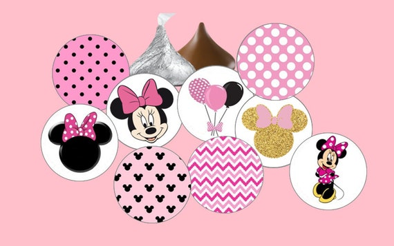 108 Fashion Designer Birthday Party Favors Hershey Kiss Stickers all 4 designs