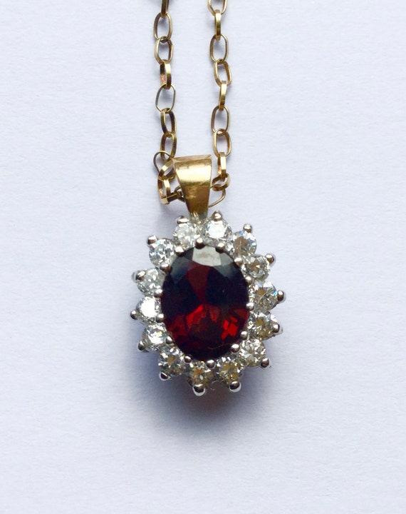 Vintage 9 carat gold Princess Diana necklace