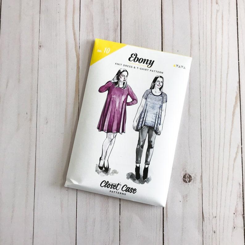 caa3902f Ebony Knit Dress & T-Shirt by Closet Case Patterns Paper | Etsy