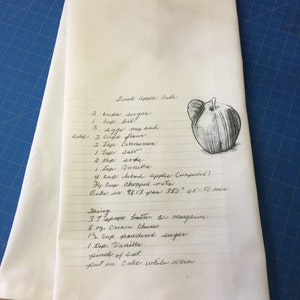 housewarming Christmas hostess gift Mother/'s Day Gift 1 Lemon Bundt Cake Recipe cotton tea towel with one of MY family favorite recipes
