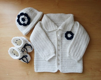 31e954153 Baby sweater hat