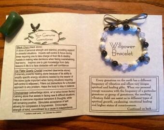 Willpower Gemstone Bracelet, Healing, Energy