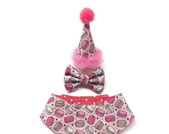 Pink Mini Cat Party Hat Macaroons Birthday For Or Small Dog Pet