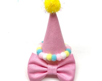 Pink Mini Cat Party Hat Birthday For Or Small Dog Pet