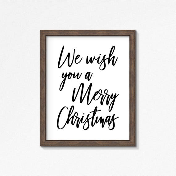 Lyrics To We Wish You A Merry Christmas.Christmas Lyrics We Wish You A Merry Christmas Print Black And White Typography Print Holiday Vertical Print Square