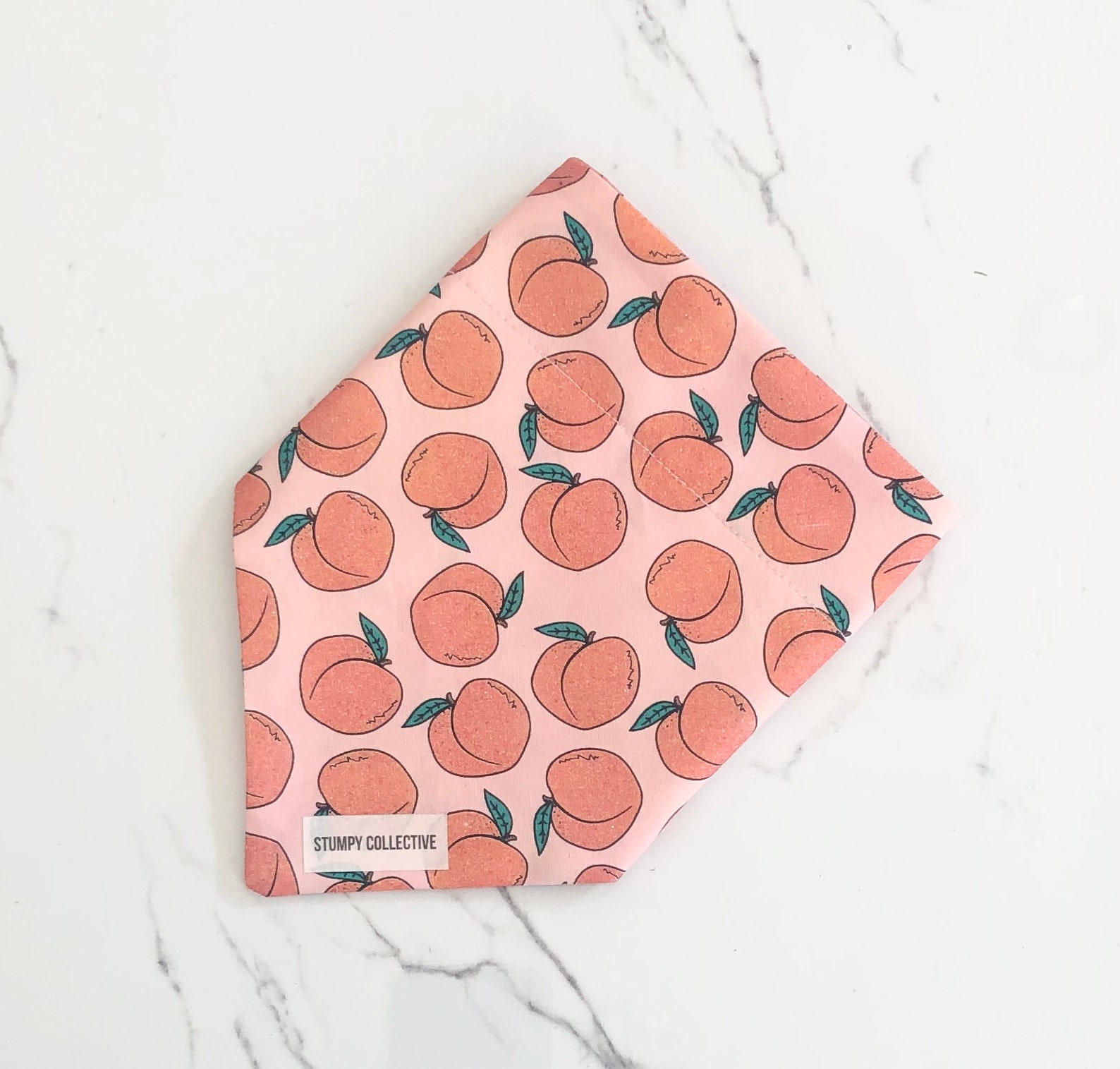 Dog bandana with peaches print