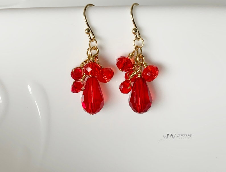 Earrings Findings Large Teardrop Glass Beads Earrings Ball Point Hook Ear Wires 77E Gold Plated over Brass
