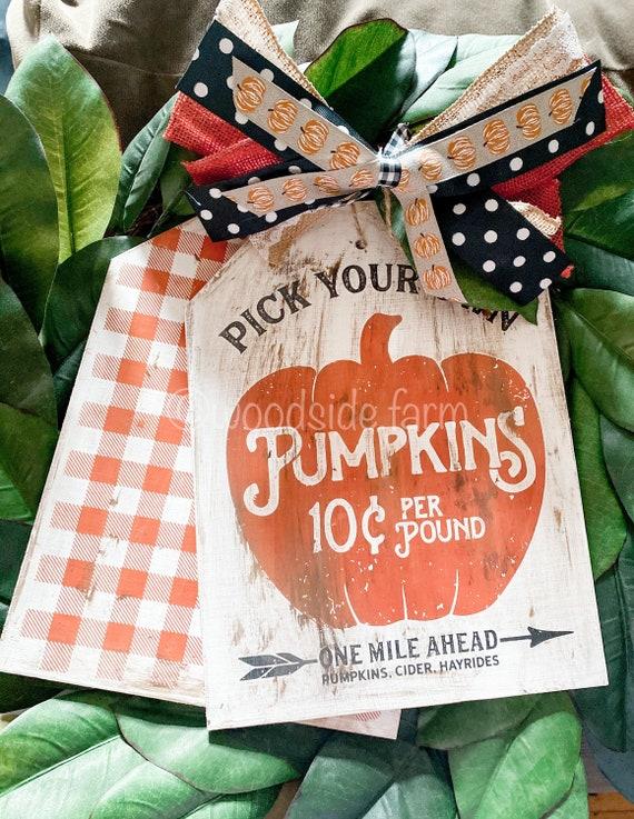 Pumpkin Door Tags