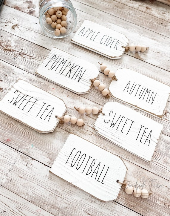 Wooden Tags-Skinny Font