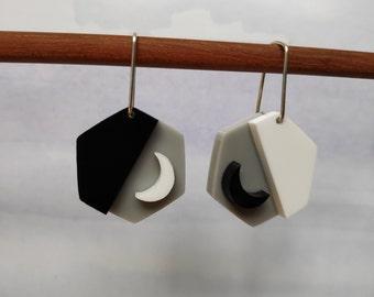 Geo slice - limited edition acrylic earrings