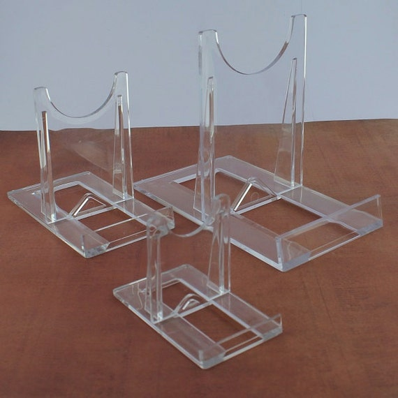 Two Part Adjustable Clear Acrylic Plastic Display Stand Easel Set Of 40 Impressive Adjustable Acrylic Display Stands