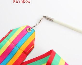 Best Quality Dance Ribbon Rhythmic Art Gymnastics Ballet Streamer Twirling Wand Satin Streamer Gift Set