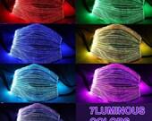 Light Up Face Mask,Glow in the Dark Luminous Mask, LED Fiber Optic Color Changing Party Mask,Graduation 2021 Mask, Rave Mask, Bridal Mask