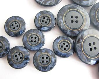 Shell Button 10pcs Japan Large 48L 30mm Natural Real Coat Peacoat Cardigan Craft