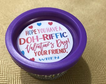 image regarding Play Dough Valentine Printable identified as Engage in doh valentines Etsy