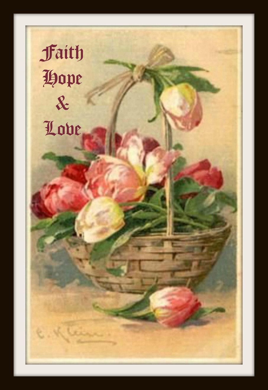 Catherine Klein Faith Hope and Love Wall Decor   Etsy