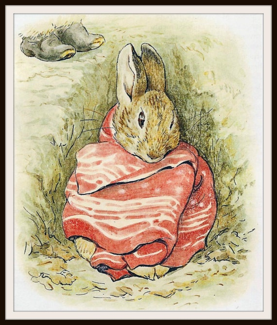 rabbit nursery print a4 glossy picture gift poster unframed