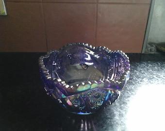 Vintage Bowl. Kaleidescope of blues, greens, purple