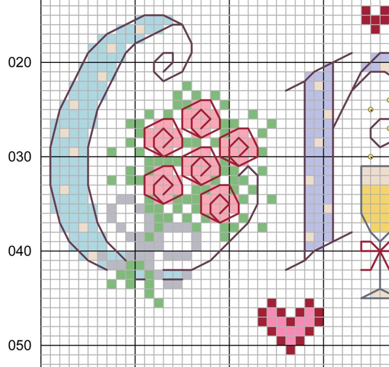 Crystal Gifts For 15th Wedding Anniversary: Crystal 15th Wedding Anniversary Customisable Cross Stitch