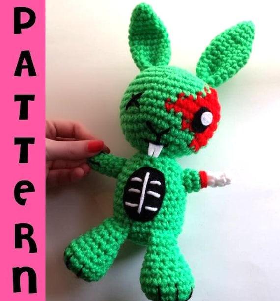 Crochet Pattern Amigurumi Zombie Bunny Crochet Plush Etsy