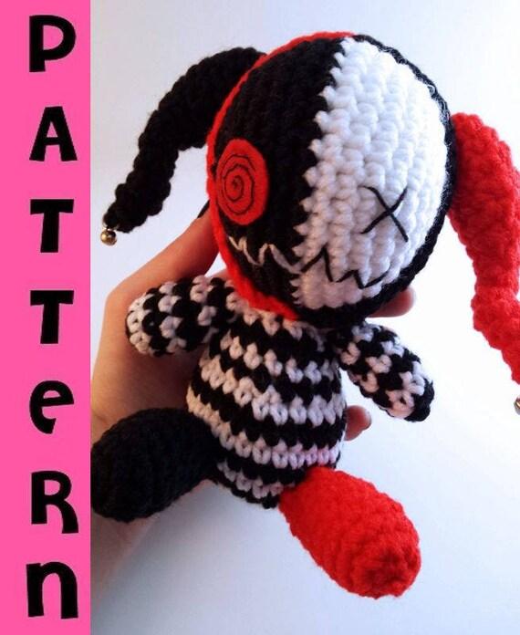 Creepy Cute Plush Amigurumi Evil Jester Crochet Pattern