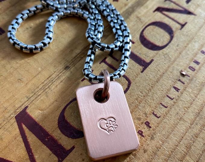 Handmade Copper Tag