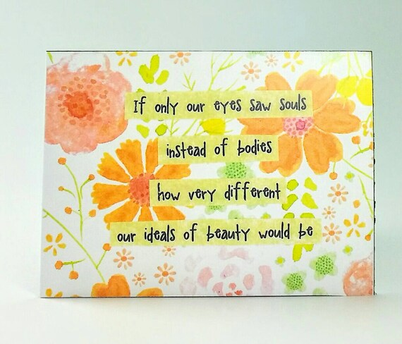 Quote Magnet If Only Our Eyes Saw Souls Instead Of Etsy