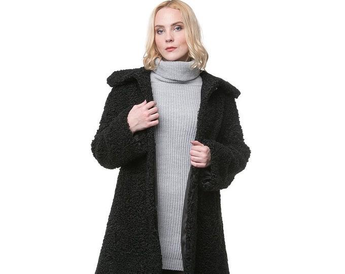 Real Karakul Fur with Hood Jacket F1002