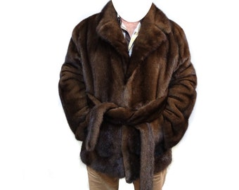Real Mink Fur Jacket For Men F199