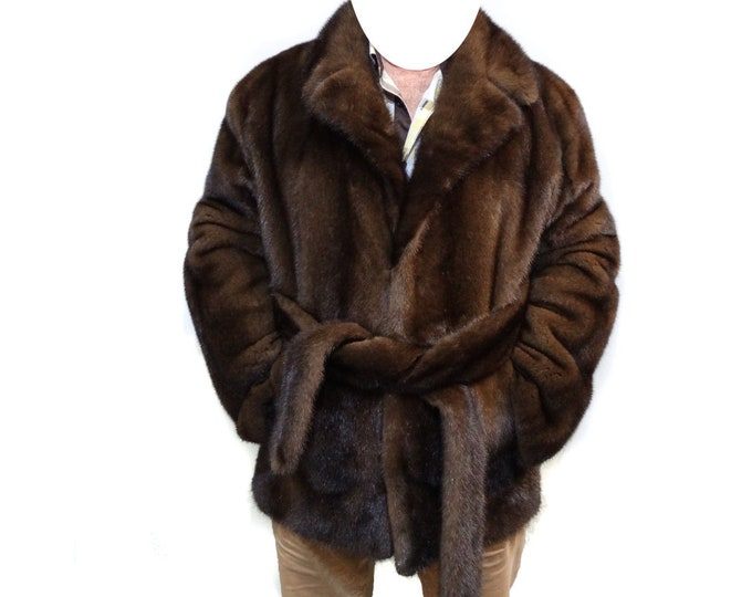 Real Mink Fur Jacket For Men