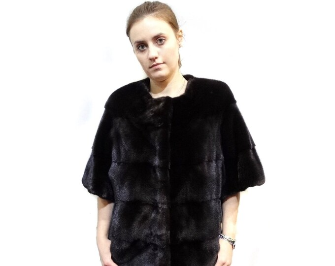 Woman Fur Coat,Prom Bolero Chanel Style Fur F264