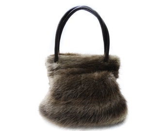 Real beaver handbag, Mom's gift F332