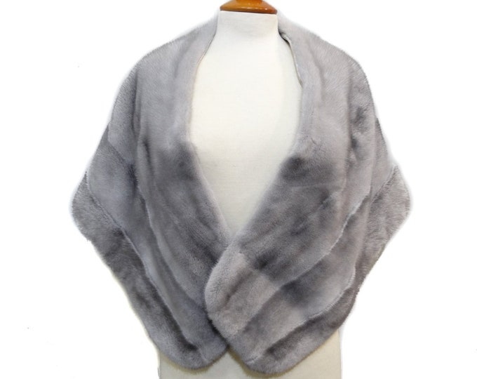 Wedding fur stole, Large fur shawl F180