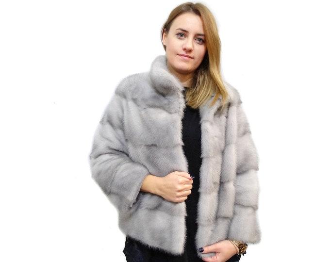 Fur Coat,Mink Fur Coat,Bridal Fur Bolero,Wedding Jacket F170