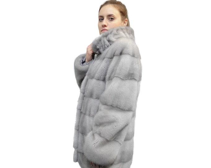 Gray Fur Coat,Real Fur Coat,Perfect Grey Fur