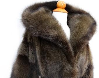 Modern Luxury Fur Coat,Hooded Fisher Fur Coat F300